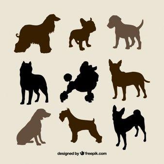 Silhuetas de raças de cães
