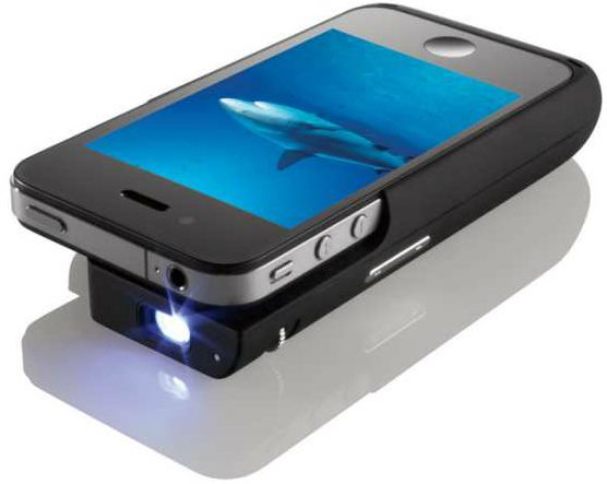An #iPhone projector. Up to 50 inches. Totally awesome.