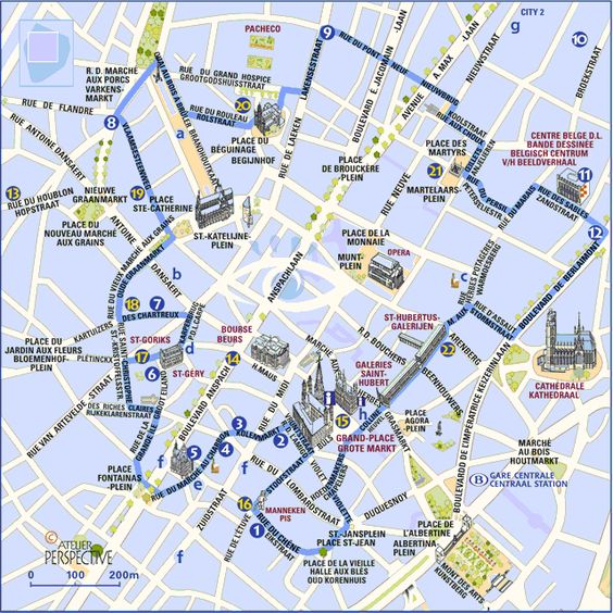 Brussels sight route map ALSO comic strip WALLS trail map http – Brussels Tourist Map