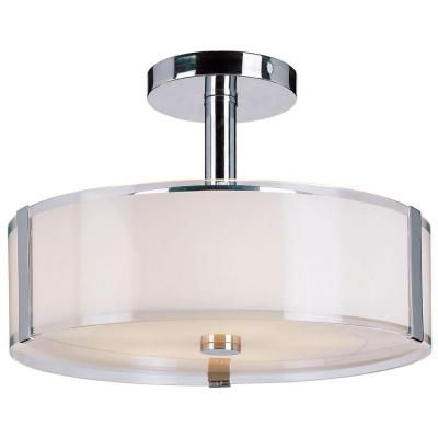 Home Decorators Collection 3 Light Polished Chrome Semi Flush Mount Cp0902 The Home