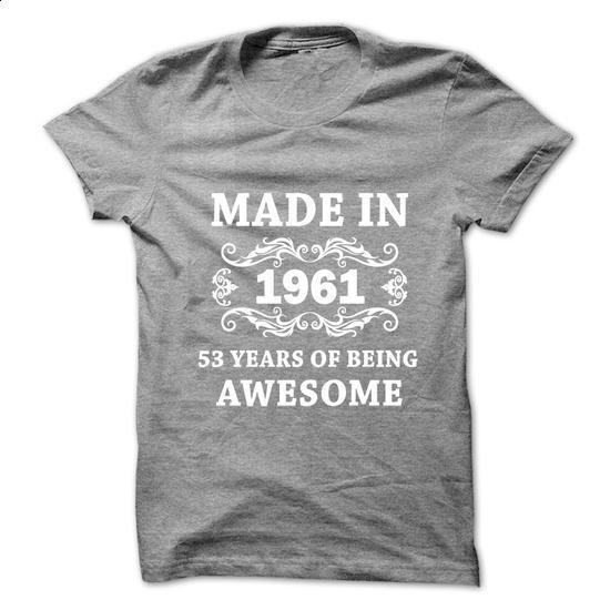 1961 - 53 - #striped shirt #wool sweater. PURCHASE NOW => https://www.sunfrog.com/Birth-Years/1961--53.html?68278