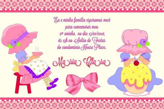 Convite digital personalizado Bonecas 005