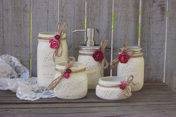 Mason jar soap pump set: