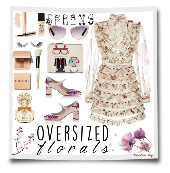 """""""Spring#"""" by s-diya ❤ liked on Polyvore featuring Dolce&Gabbana, Zimmermann, Vince Camuto, Bobbi Brown Cosmetics, By Terry, NARS Cosmetics, Karl Lagerfeld, Tom Ford, polyvorecontest and polyvoreOOTD"""