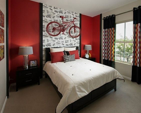 Interieur taupe and rouge on pinterest - Couleur papier peint chambre ...