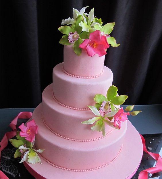 """Свадебный торт """"Розовый закат"""""""