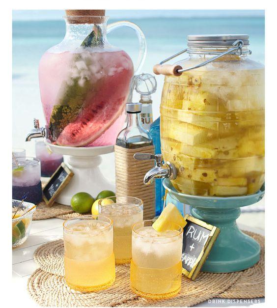 Morceau d ananas eau fra che sirop id es recettes pour ma fontaine cocktails pinterest - Recette fraiche pour l ete ...
