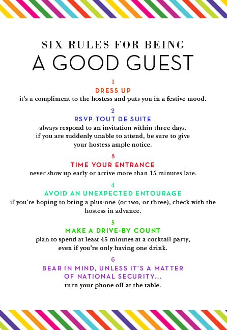 Good House Design Rules: 6 Rules For Being A Good House Guest,