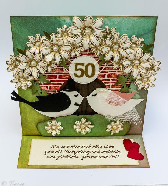 50-th wedding anniversary card