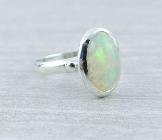 Wunderschöne äthiopischer Opal in karge, einfache Montage 3HN3W3-D Sterling-Silber