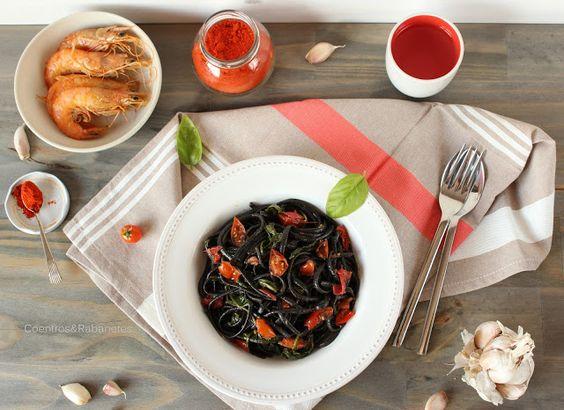 Coentros & Rabanetes: Linguine vendido ao camarão | Linguine sold out to the prawn