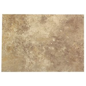 Castle Travertine Coffee Satin Stone Effect Ceramic Wall Tile Pack Of 7 L 450mm W 316mm Ceramic Wall Tiles Wall Tiles Travertine