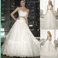 Wholeslae-2013 New Fashion  Sweetheart Neckline  Lace Applique Beaded Waistline  Mermaid wedding Bridal Gown dress D1506