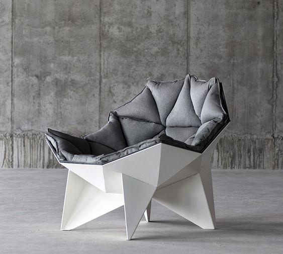 Óceo Design Sessel Segmente Durchsichtig Holz