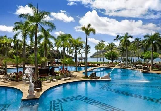 Most beautiful resort, we got married at! Marriott Kauai Resort