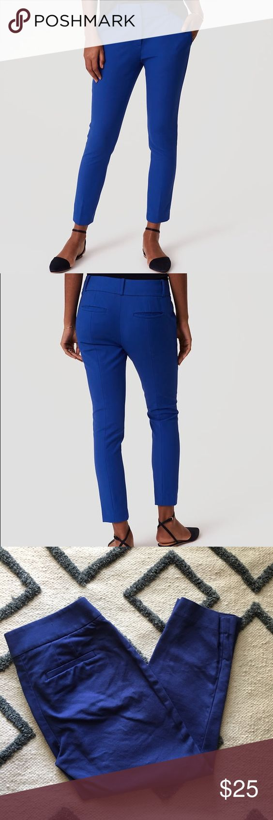 "Essential Skinny Ankle Pant in Julie Fit Like New ""Our skinny ankle pants are mid ride and slim throughout with a narrow leg and slight crop. Contoured to flatter the hips and thigh. Zip fly with hook and bar closure. Front slash pockets. Petite - 26"