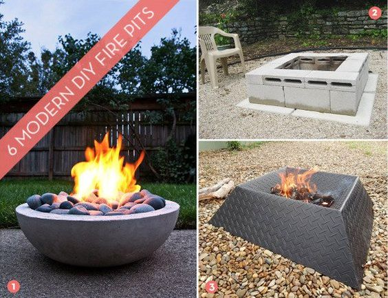 Roundup 6 awesome and easy diy fire pits pinterest for Fire pit easy