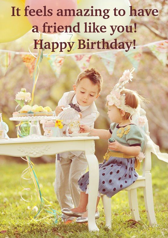 Cute happy birthday best friend card with wording – Cute Happy Birthday Cards for Friends