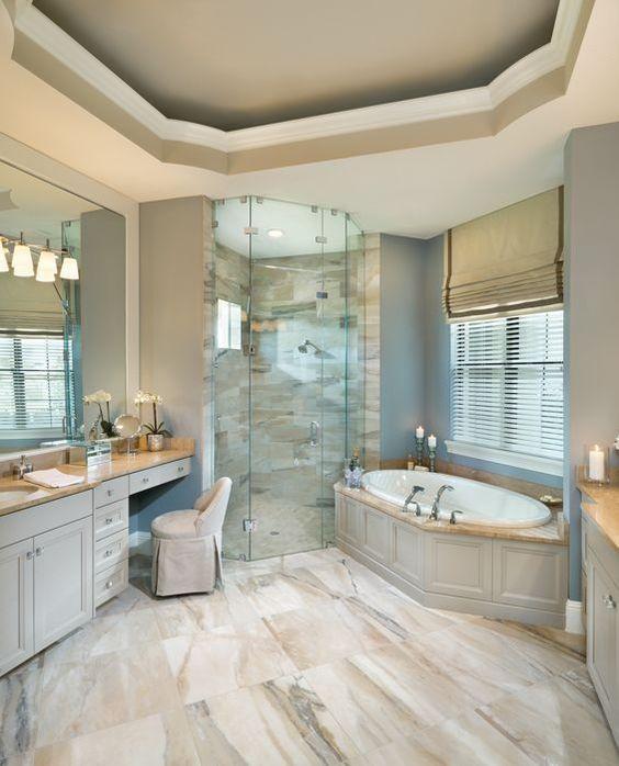 Rutenberg - Melbourne Luxury Designer Home - Bathroom - glass walk in shower - amazing floor tile By Arthur Rutenberg Homes: