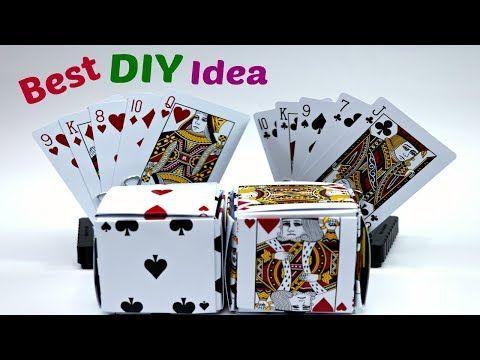 Awesome Crafts Idea With Poker Card Game Diy Best Out Of Waste