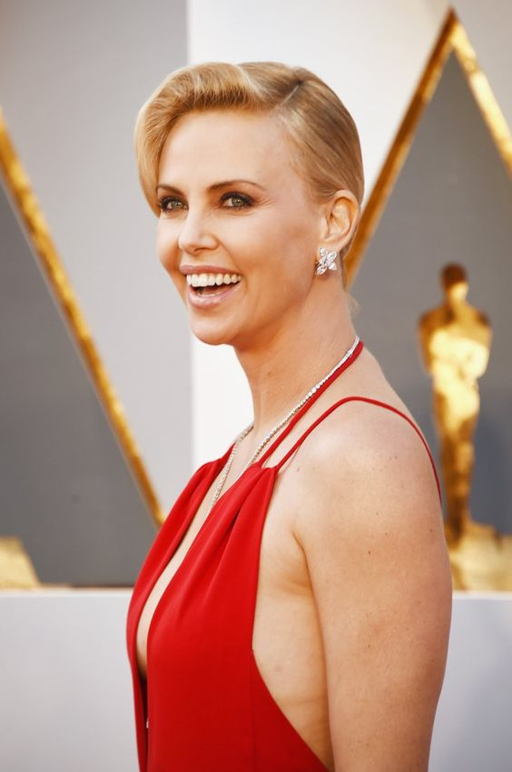 Pin for Later: See Every Award-Worthy Beauty Look From the Oscars Charlize Theron