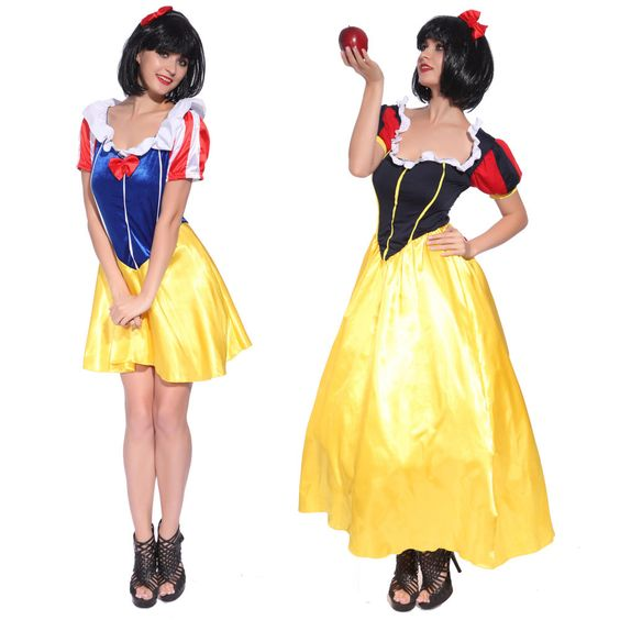 Fever Fairytale Snow White Storybook Character Fancy Dress Costume Outfit