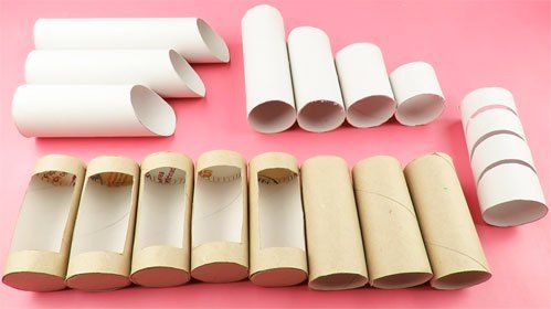 Organizador con rollos de papel