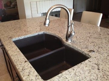 sinks faucets phoenix decor sinks granite contemporary homes kitchens ...