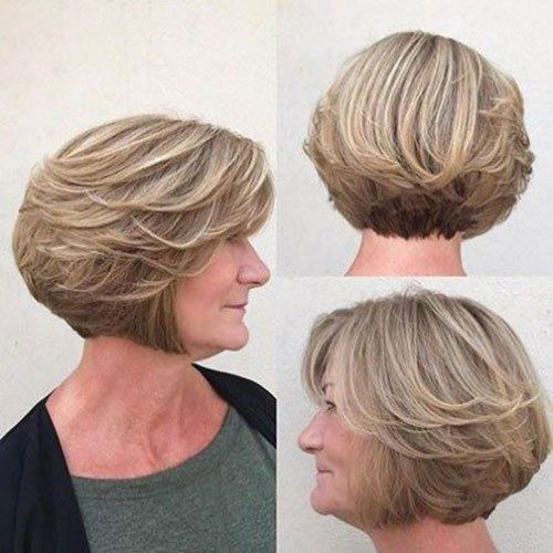 Short Layered Bob Haircuts For Older Women 4