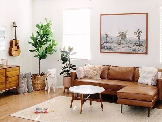 Chọn sofa da tphcm cho phòng khách nhỏ