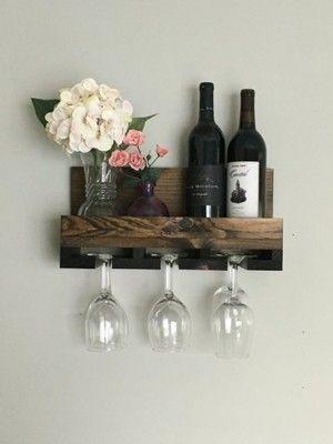 Hit Polka Na Wino I Kieliszki Wiszaca 16 Kolorow 6718492091 Oficjalne Archiwum Allegro Wood Wine Racks Wine Rack Wall Wine Rack Shelf