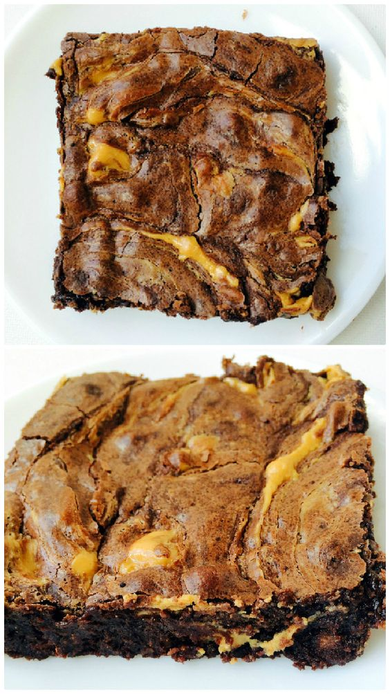 Fudgy Peanut Butter Swirl Brownies | Recipe | Butter, Peanuts and ...