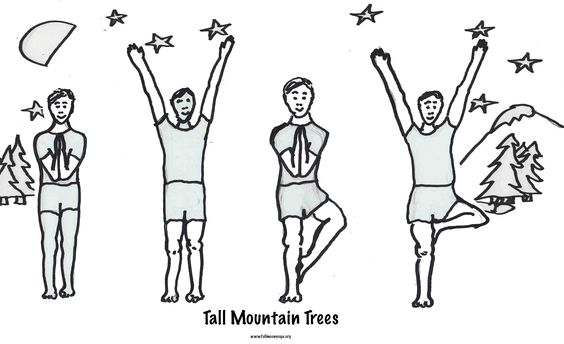 Tall Mountain Trees, For More Free Coloring Sheets And