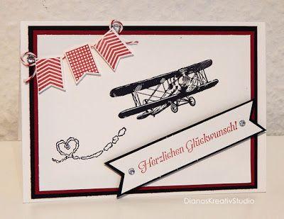 Karte Stampin' Up! Geburtstag Flugzeug