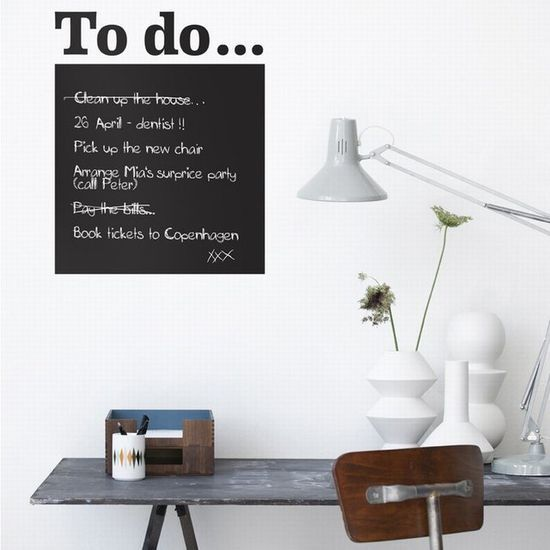 blackboard pinterest1 6 Cool Ways to Use Vintage Wall Decals