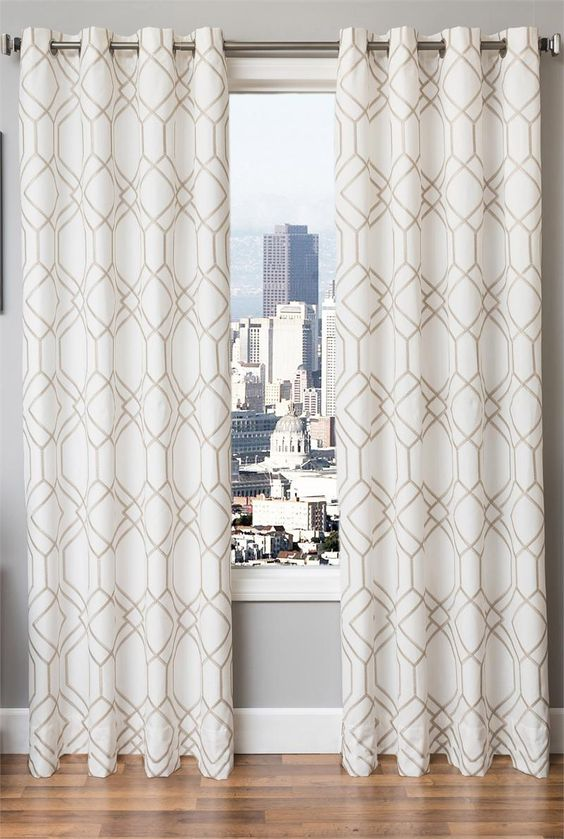 Quinn Linen Curtains : Modern or Vintage Art Deco Style ...
