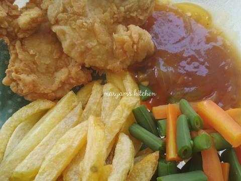 Resep Crispy Chicken Steak With Brown Sauce Steak Ayam Krispi Oleh Maryam Shalihatunnisa Resep Steak Ayam Resep