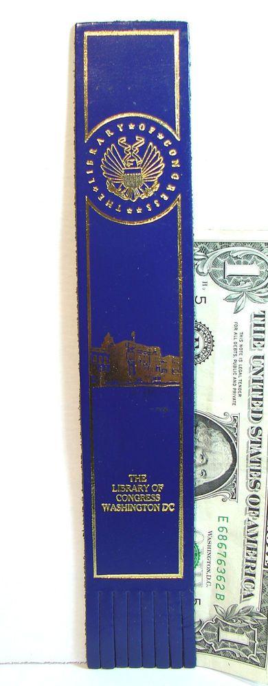 Vintage English Leather Library of Congress Washington D.C. Bookmark