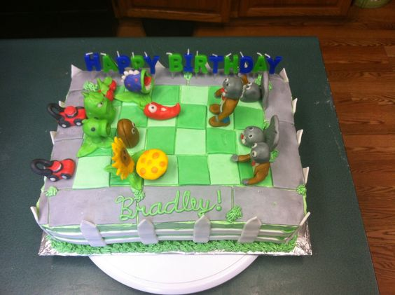 Plants vs Zombies cake!