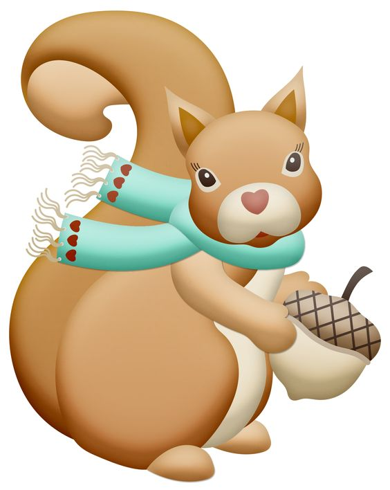 Clip art, Squirrel and Autumn on Pinterest
