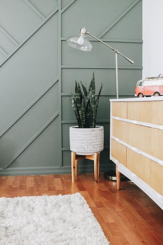 Creating A Modern Wood Accent Wall Green Accent Walls Accent Wall Bedroom Accent Walls In Living Room