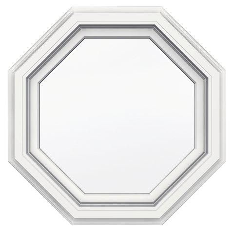 24 Inch X 24 Inch 5000 Series Vinyl Octagon Window With With J Channel Brickmould Octagon Window Octagon Windows