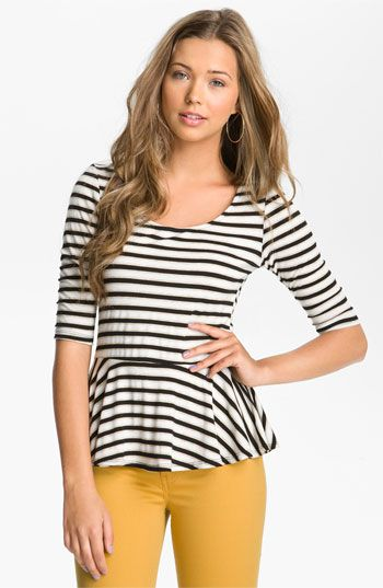 Striped Peplum $32