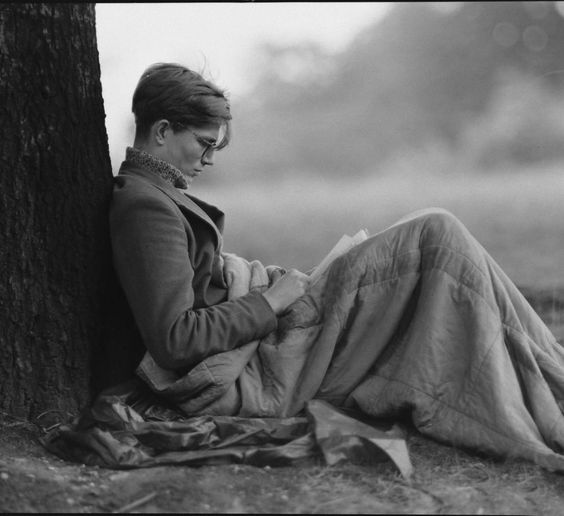 Colin Henry Wilson reads on Hampstead Heath, 1956