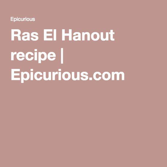 Ras El Hanout recipe | Epicurious.com