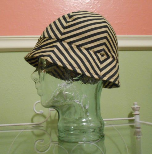 J Crew Stripped Hat Tan and Black Spring Summer Cotton 60's Mod Inspired | eBay