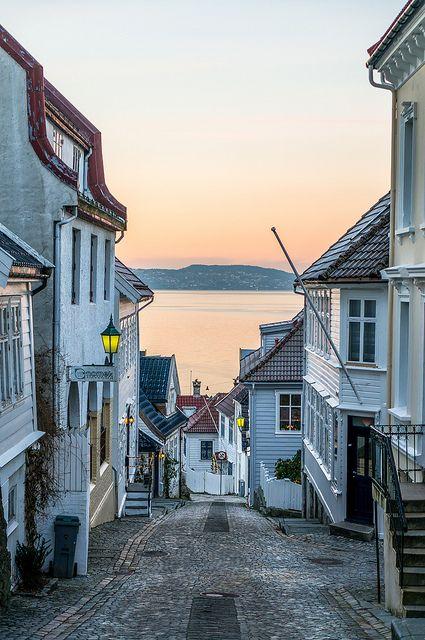 "citygirlcool: ""Streets of Bergen by Paulius Bruzdeilynas on Flickr. """