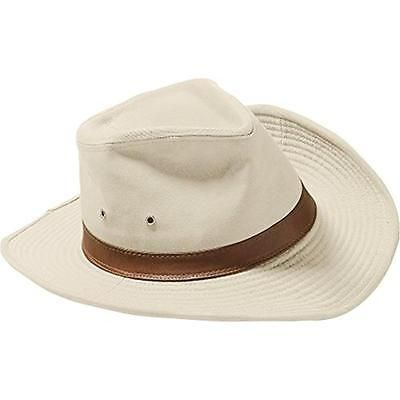Coolibar 4879 Mens Beige UPF 50 Shapeable Banded Outback Hat L/XL BHFO