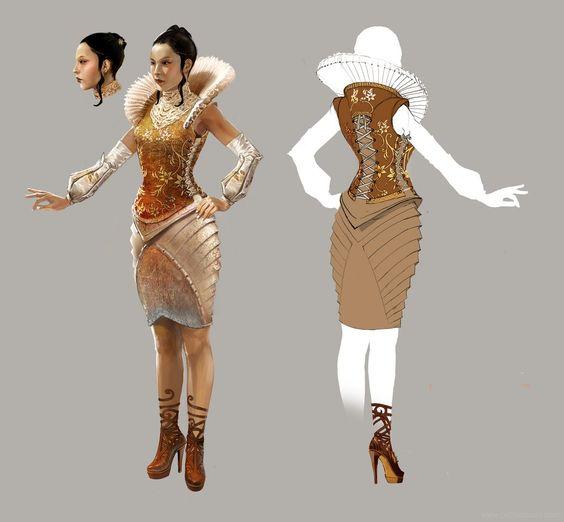 Sims 2 long dress ex