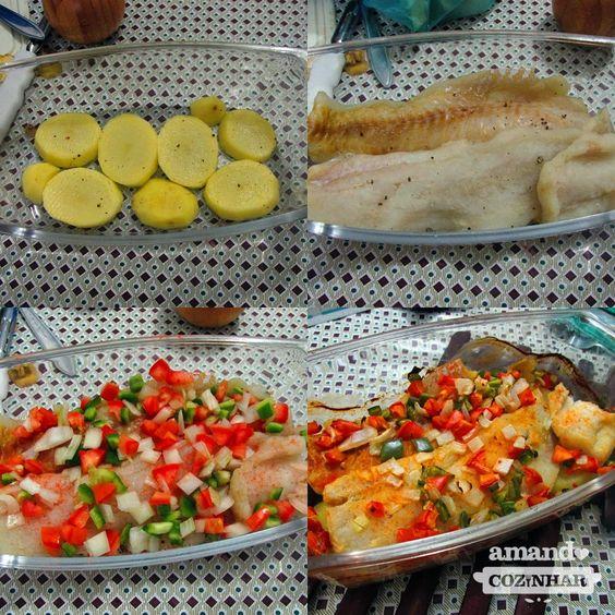 Filé de Peixe com Batata ao forno fácil